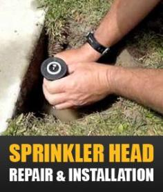 Offering sprinkler head repair & installation